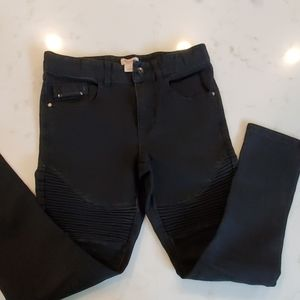 Boys black Jean with zippers